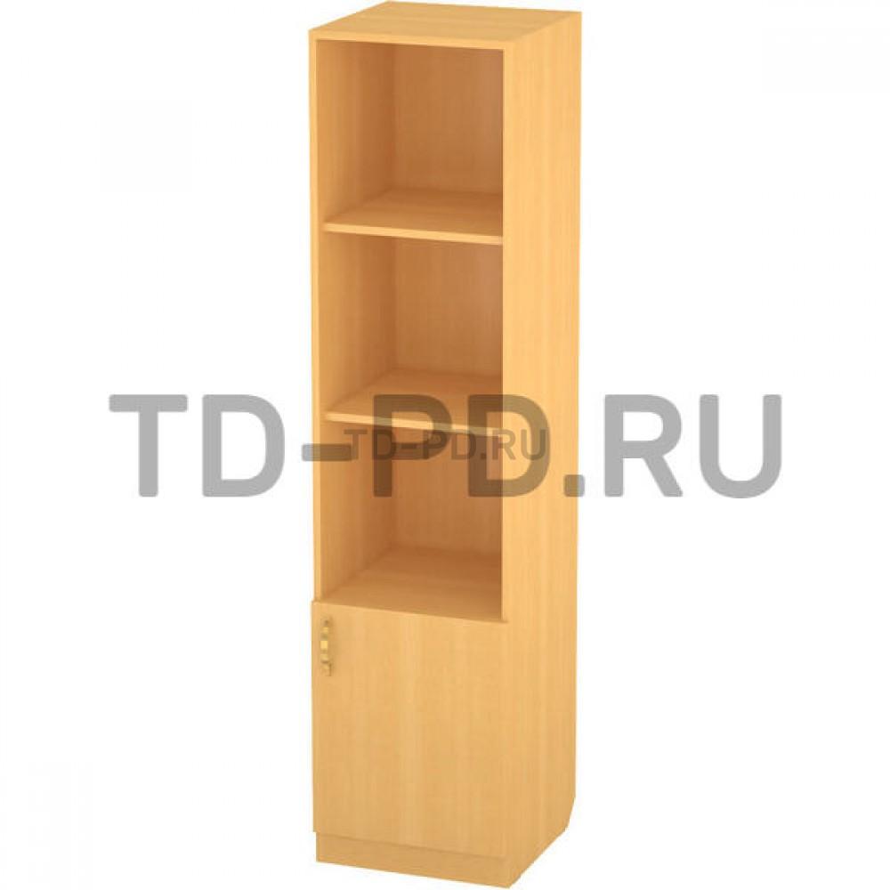 Шкаф 1-ств. с полками и дверью